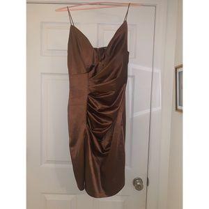 RSVP Satin Dress - Chocolate